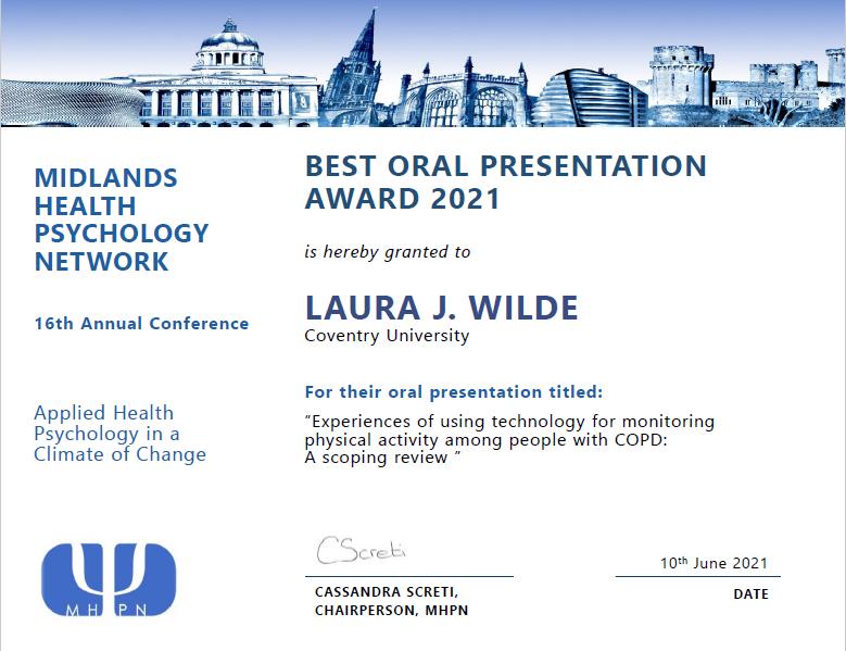 MHPN presentation award 2021